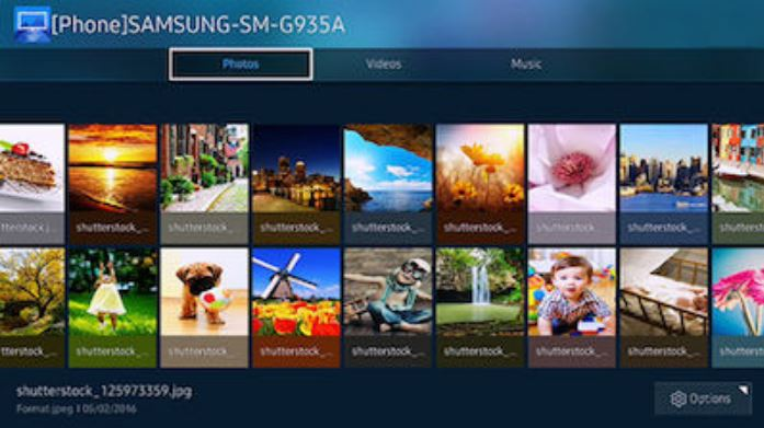 Samsung media access from the mobile