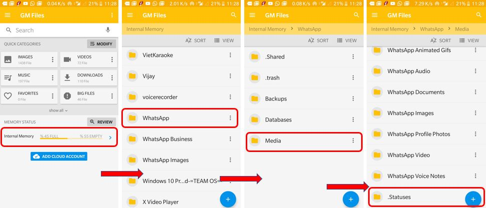 WhatsApp status video downlaod without using any app
