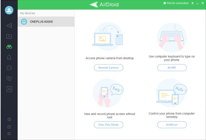 airdroid remote access & file using client