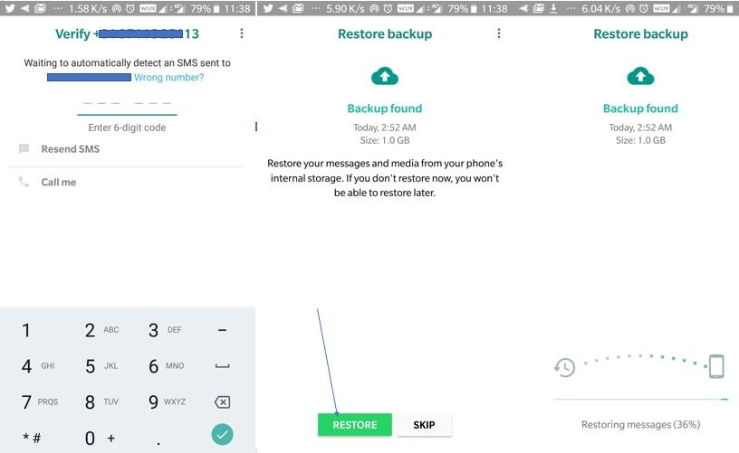 how to restore gbwhatsapp backup