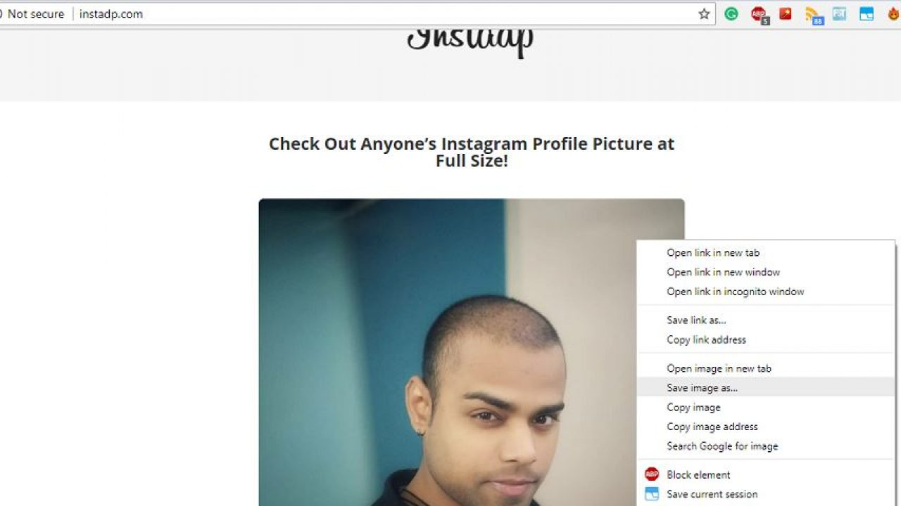 How to View Instagram Profile Picture in full size on