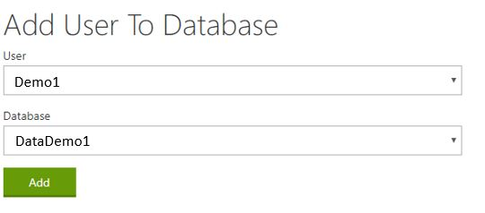 Add use to database