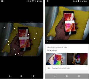 Gogole Lens recognizing the smartphone