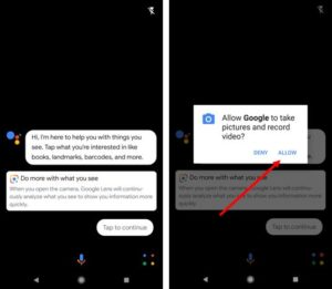 Google Lens allow to take images