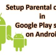 How to Set up parental controls on Android Google Play Store with Pin code