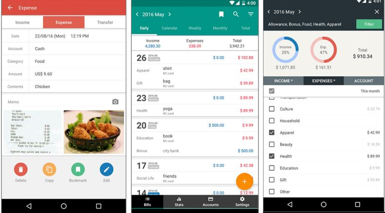 10 best apps for tracking expenses to manage the budget android ios