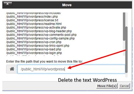 Move all WP files in cpanel