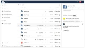 OWncloud self hosted personal clous software