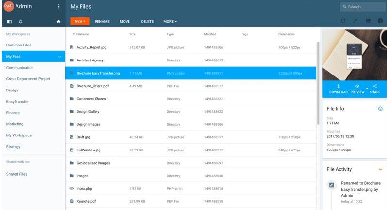 Pydio free cloud storage software
