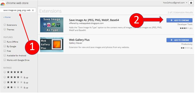 Save Google Image As JPEG, PNG, WebP, Base64