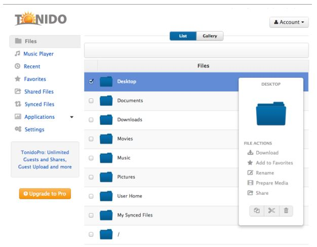 Tonido – A Free Private Cloud Server