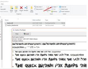 Windows font viewer