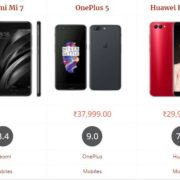 Xiaomi Mi 7 vs OnePlus 5 vs Huawei Honor V10