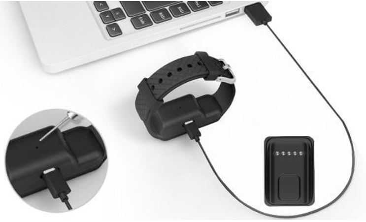 Yogg HR smart tracker charging micro USB