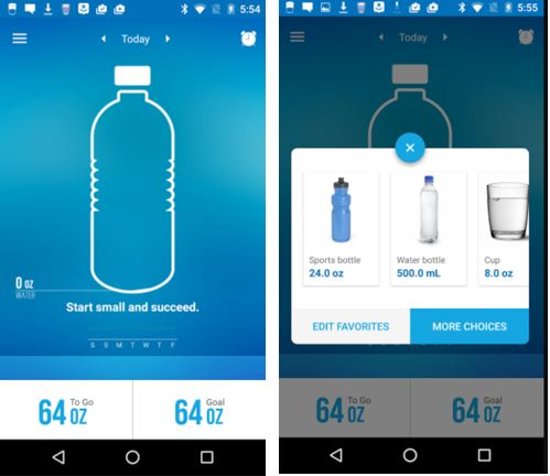 health Waterlogged Daily Hydration Tracker app