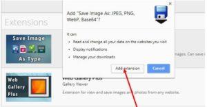 save webp images extension
