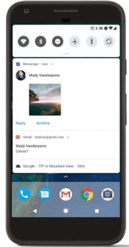 Android P Notifications new invigorated