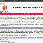 Apache 2 test on Ubuntu