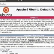 Apache 2 test on Ubuntu