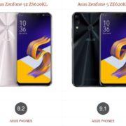 Asus Zenfone 5z ZS620KL vs Asus Zenfone 5 ZE620KL
