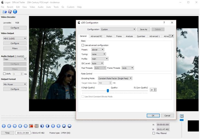 Avidemux (Open Source) video editing tools