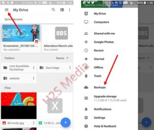 Delete whatspp backup from google Drive