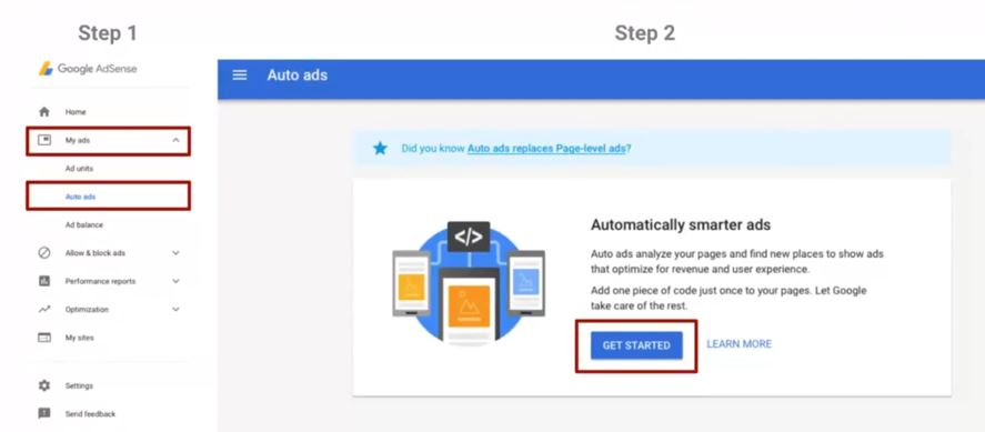 Enable Google Adsense Auto Ads on WordPress websites