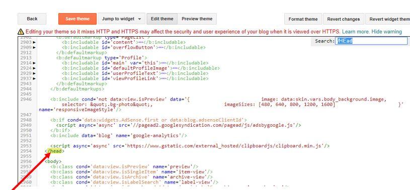 Google Adsense Auto code in Blogspot blogger