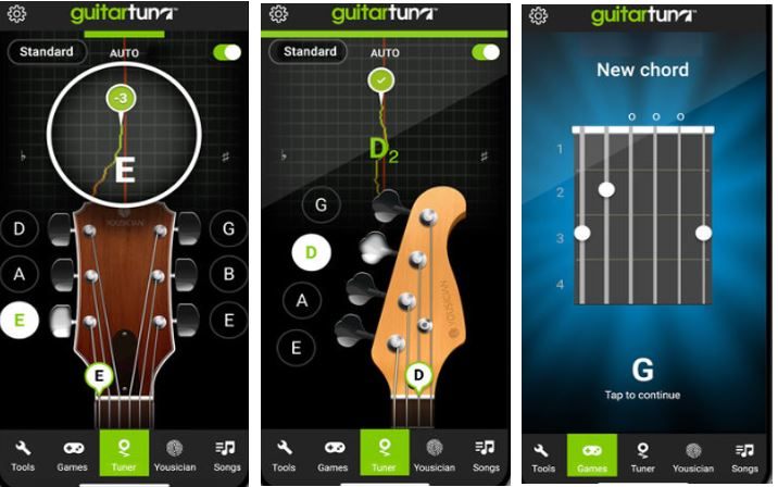 5 best free guitar tuner apps to download for android and iphone. Black Bedroom Furniture Sets. Home Design Ideas