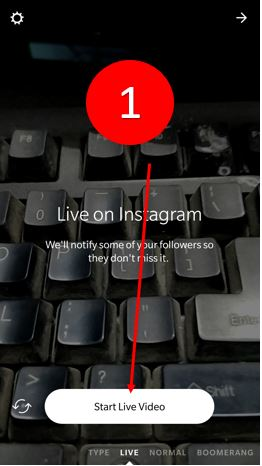 Instagram live video save feature