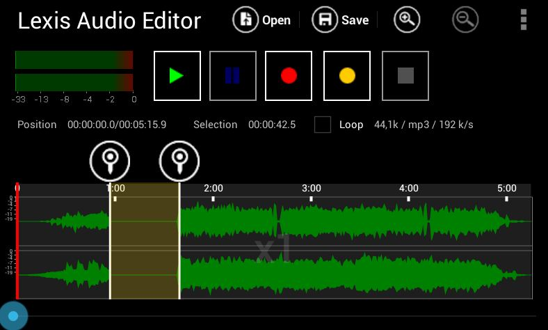 Lexis Audio Editor app for android