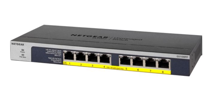 NETGEAR GS108PP Gigabit Ethernet Switch