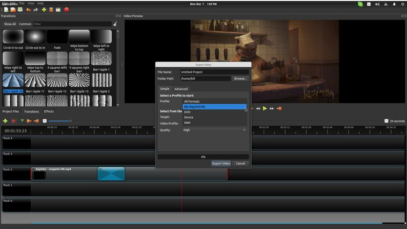 11 Best free open source video editor for Windows 10,7,8 / Linux