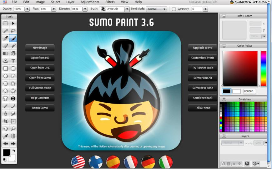 Sumopaint Free and paid photoshop alternative
