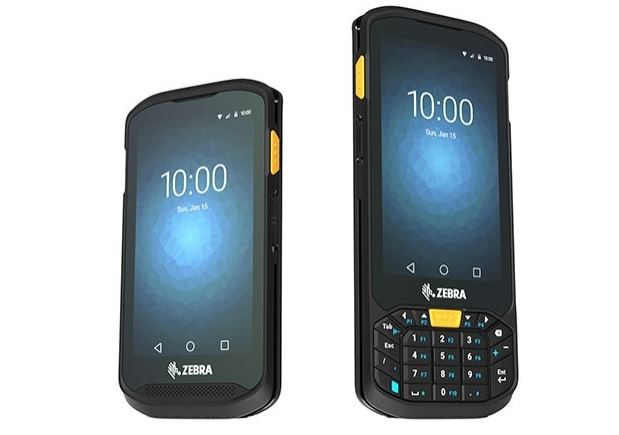 Zebra TC20 durable mobile computer and TC25 rugged smartphone.