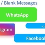 blank messages on Whatsapp Facebook, & Instagram
