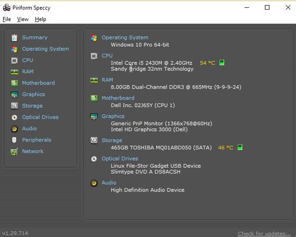check ram operating frequency of RAM in windows 10 using speccy or Bios