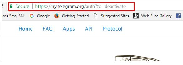 deactivation page telegram