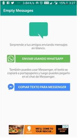 empty messages whatsapp