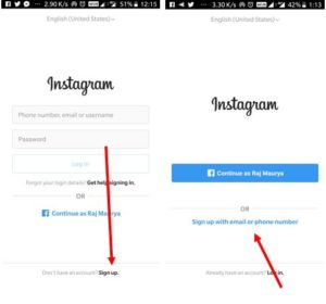 make another Instagram account on the same device