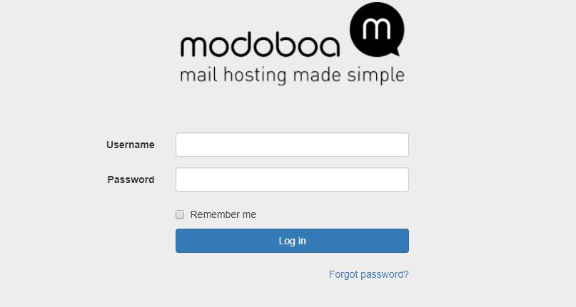 modoboa default login