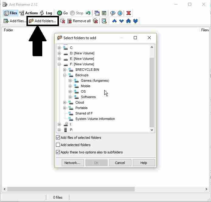 add files and folder to rename