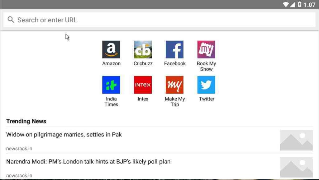 Amazon internet browser app for Android