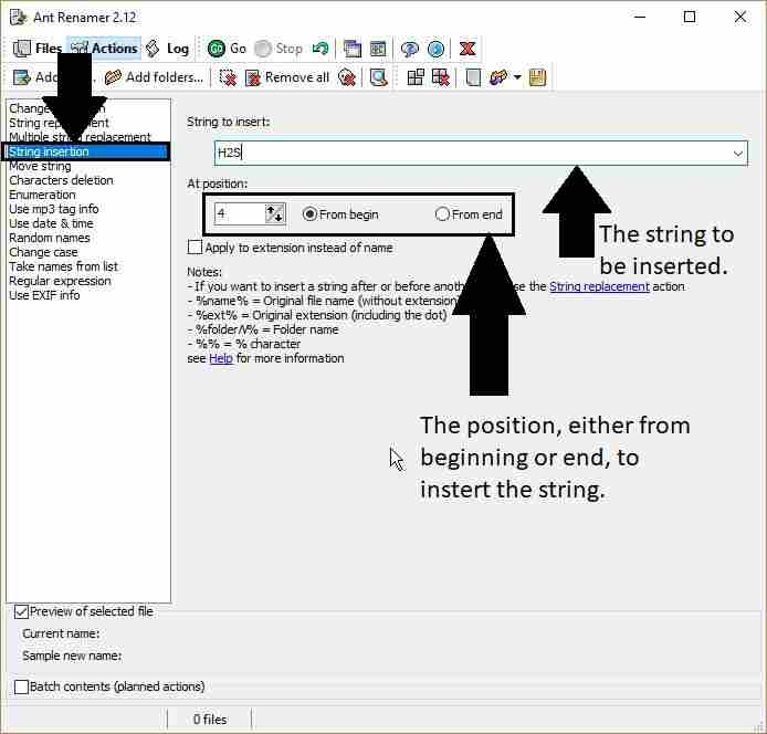 Batch String insertion to rename the files