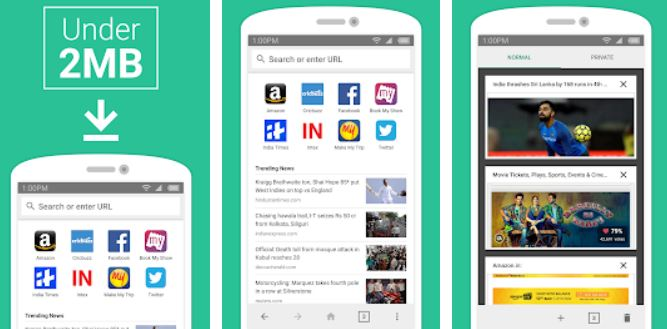 Amazon Internet fast, lite, and private browser app for Android