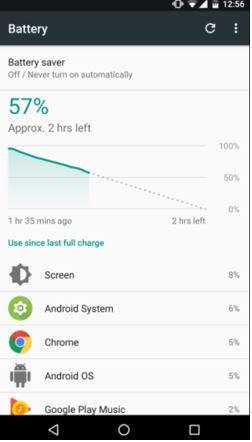 Analyze battery life Android
