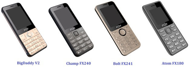 Fox Mobiles Basic Keypad Phones