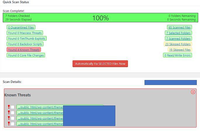 scan WordPress site hacked how to fix