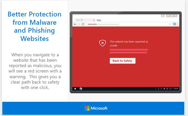 Microsft Windows Defender Extension for Google Chrome