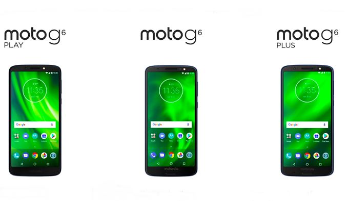 Moto G6, Moto G6 Plus, and Moto G6 Play